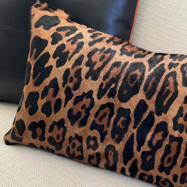 jaguar print cushion - 4