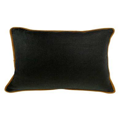 black linen cushion 35x50cm