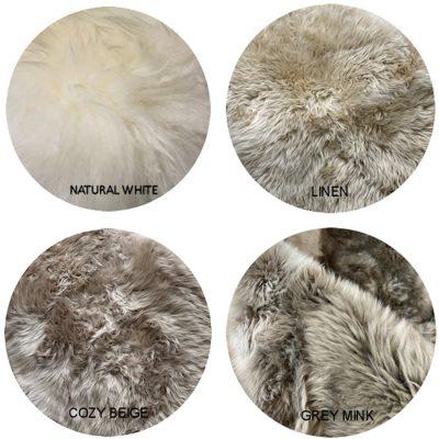 MERINO SHEEPSKIN NATURAL COLOUR CHART 1