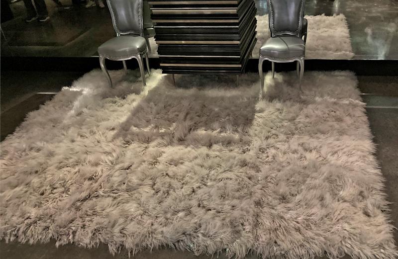 white fur rug mona