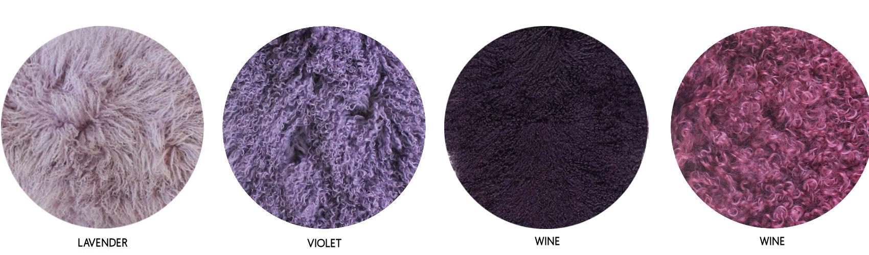 purple mongolian sheepskin colour chart