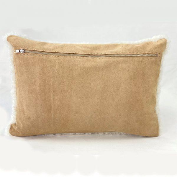 leather back cushion - tan