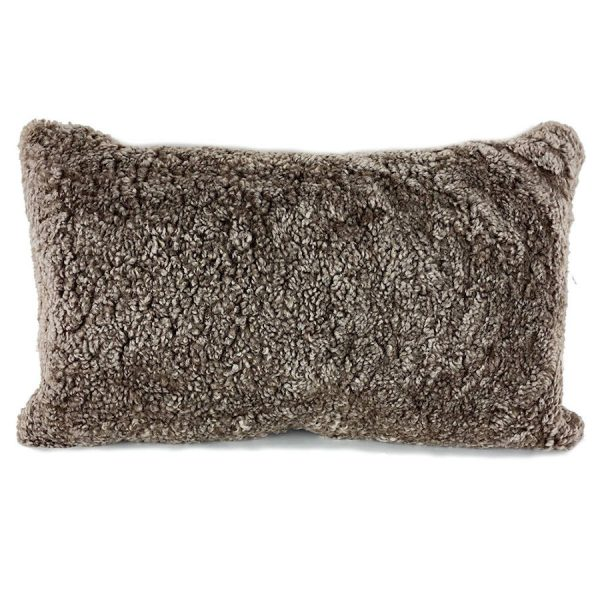 shearling cushion -sahara front