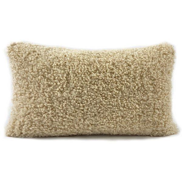shearling lumbar cushion sand