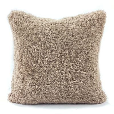 shearling pillow brown hazelnut front
