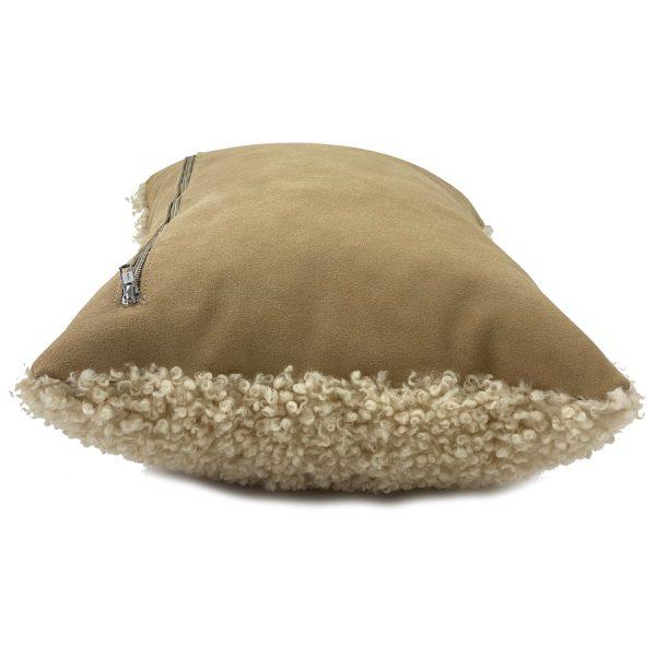 shearling cushion tan side view