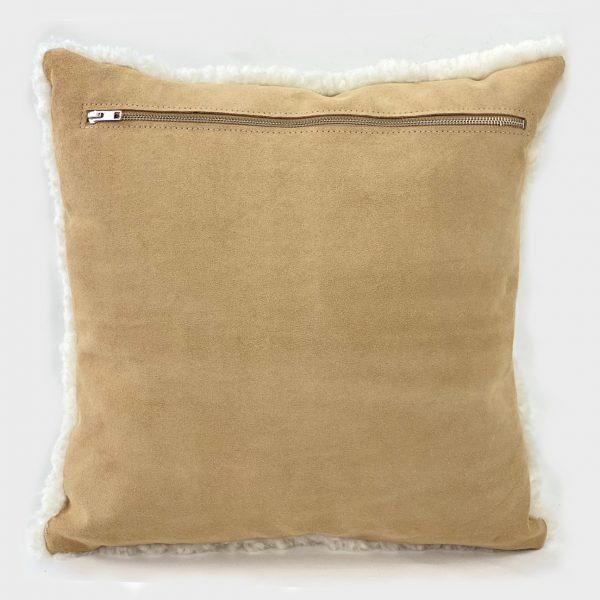 shearling cushion leather back