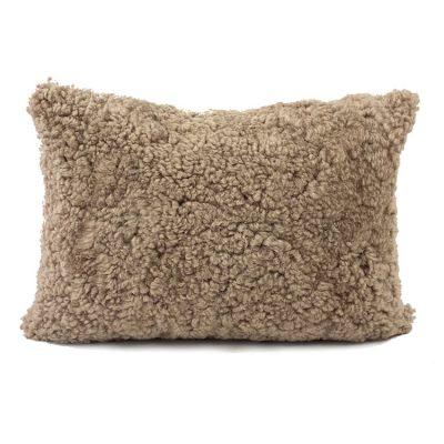 brown cushion - rectangle shearling 35*50cm