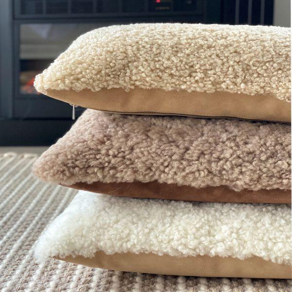 shearling cushions & pillows