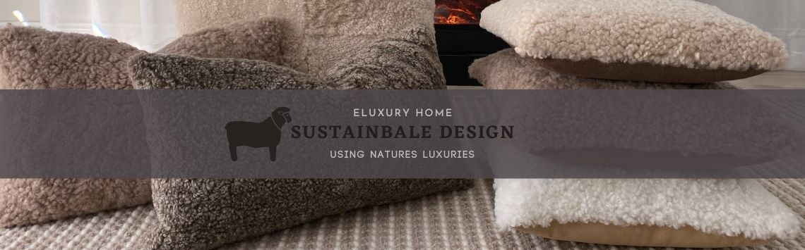 shearling pillow - sustainable design