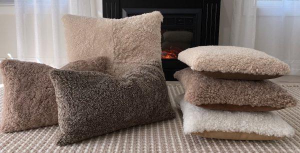 shearling sheepskin pillows