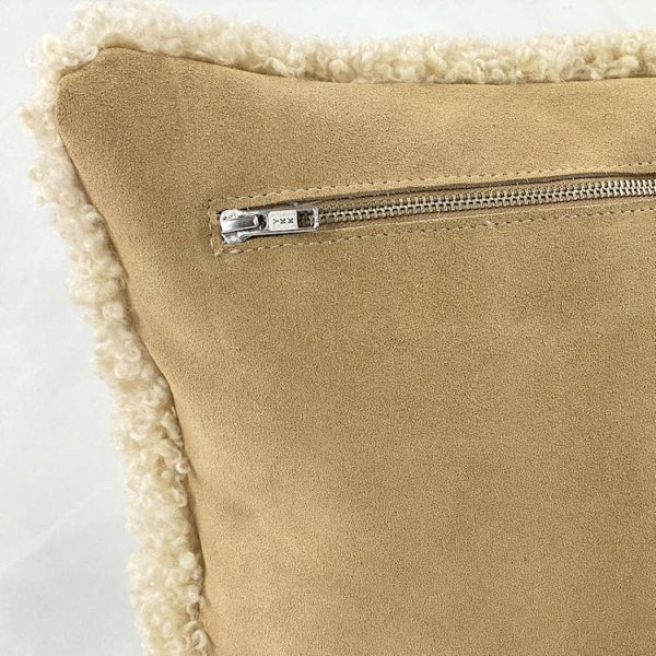 shearling pillow leather back