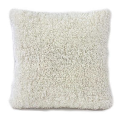 shearling cushion - white