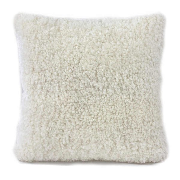 shearling cushion - white