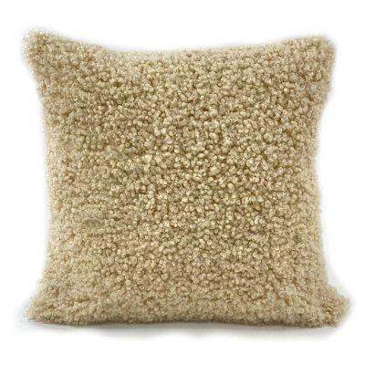 shearling wool cushion sand