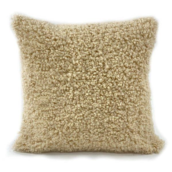 shearling wool cushion sand