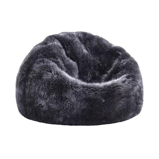 Superb Sheepskin Bean Bag Grey Merino Machost Co Dining Chair Design Ideas Machostcouk