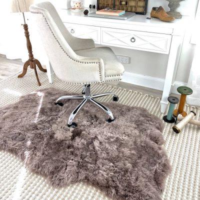 sheepskin rug taupe- icelandic triple