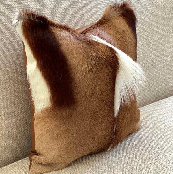 springbok pillow - side view