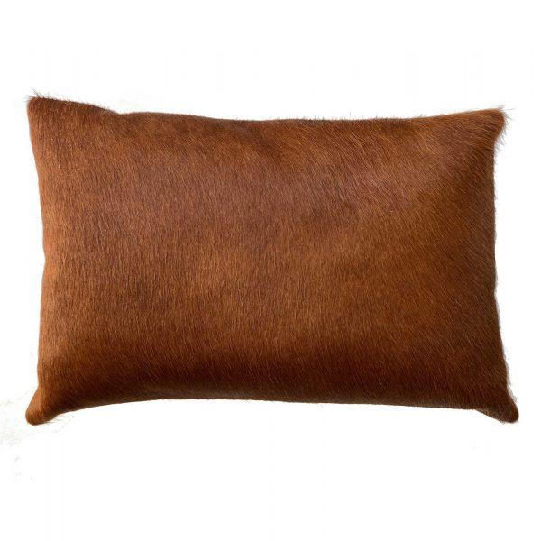 Tan cowhide cushion