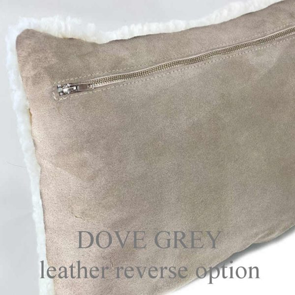 shearling cushion suede back - dove