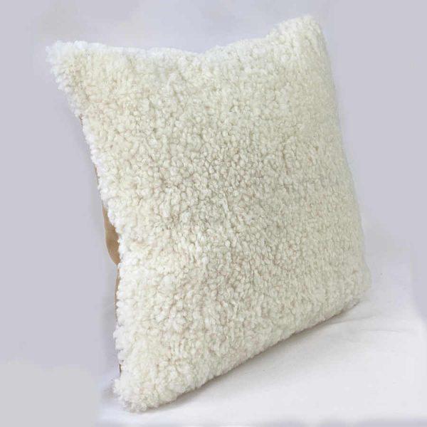shearling cushion - white side